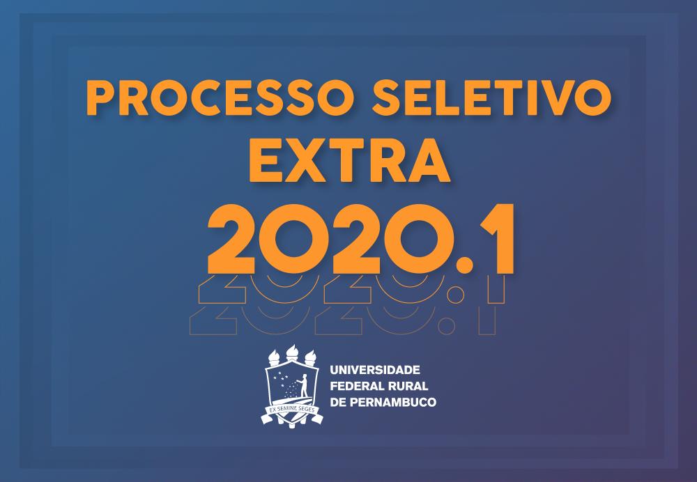 UFRPE divulga edital do Processo Seletivo Extra 2020.1