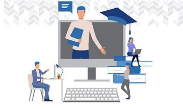 ilustracao atividades docentes de ensino remoto