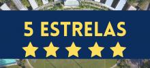 imagem do campus com a frase 5 estrelas