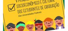 cartaz da campanha nacional do perfil discente, com ícones de estudantes e informações da pesquisa