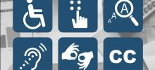 imagem da capa do guia de acessibilidade com símbolos de acessibilidade