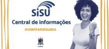 imagem de divulgação central de informações sisu com estudante comemorando