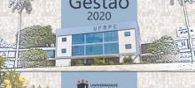 imagem da capa do relatório de gestão da UFRPE 2020 com a fachada da UFRPE