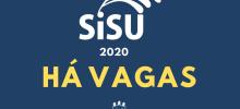 imagem azul com a frase Sisu 2020: há vagas